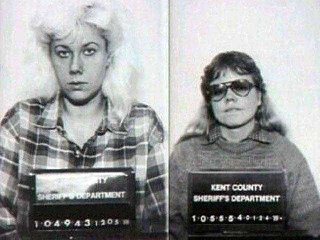 Gwendolyn Graham and Cathy Wood: Lovers who worked together in a Grand Rapids, Mich. nursing home and who smothered five patients in the 1980s. Each now blames the other for the murders. Wood plea bargained a 20-40 year sentence. Graham was sentenced to six life sentences.