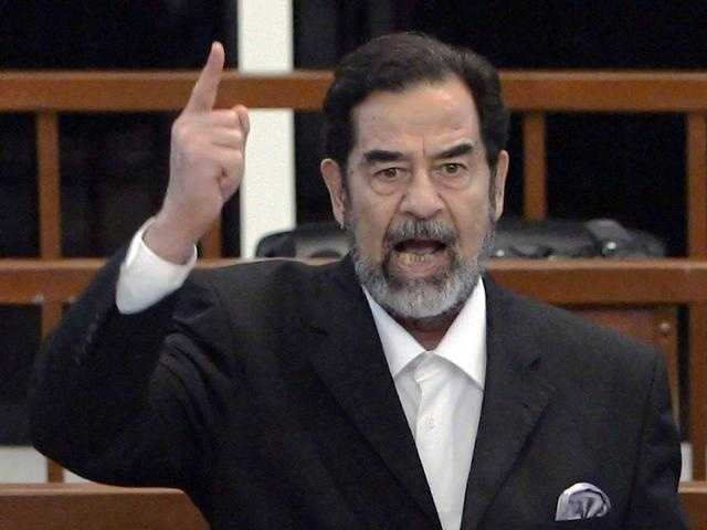 $650 million was eventually found hidden in walls in Saddam Hussein's palace by US troops.