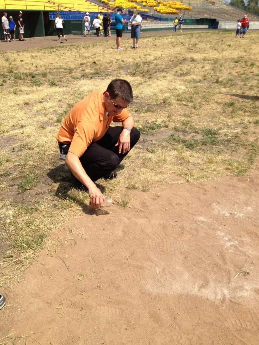 One fan collected dirt from the batter's box.