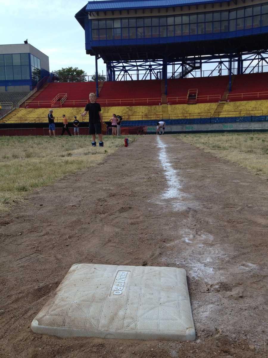Third base line