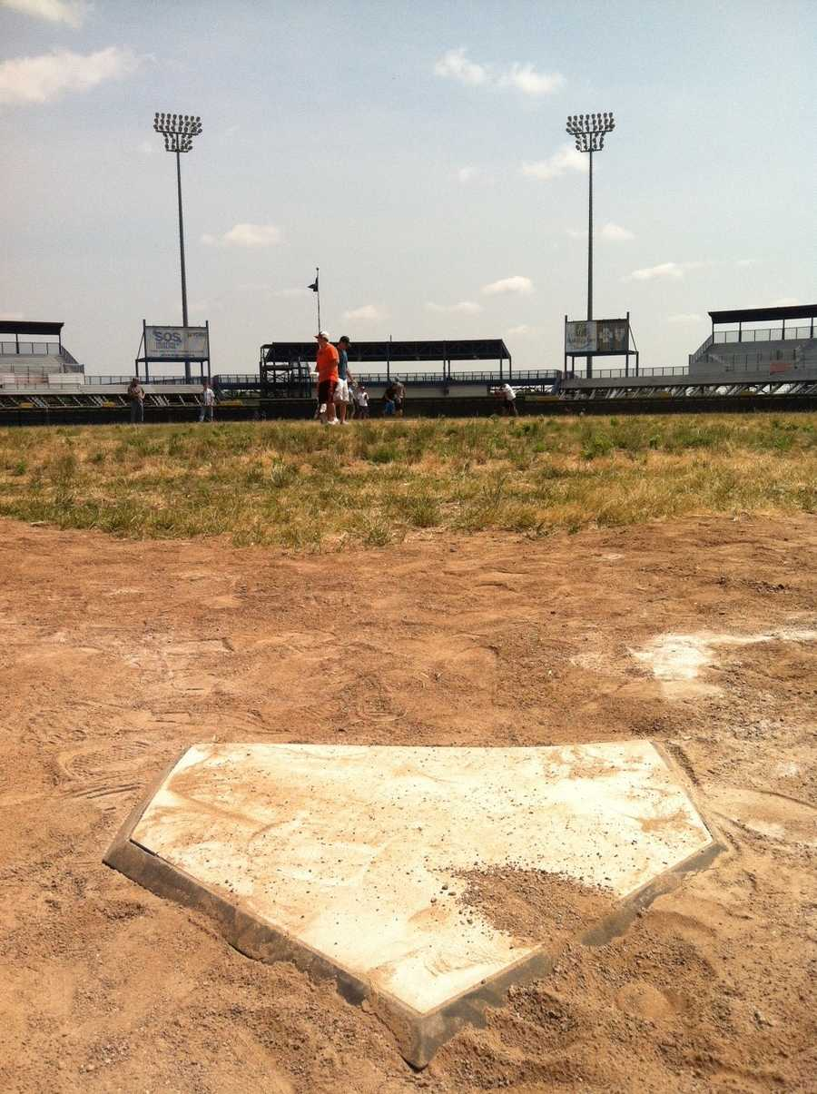Home plate will remain in the same spot as part of an exhibit at the zoo.