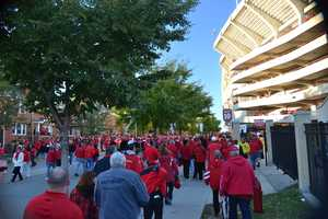 Outside Ft. Randall Stadium in Madison.