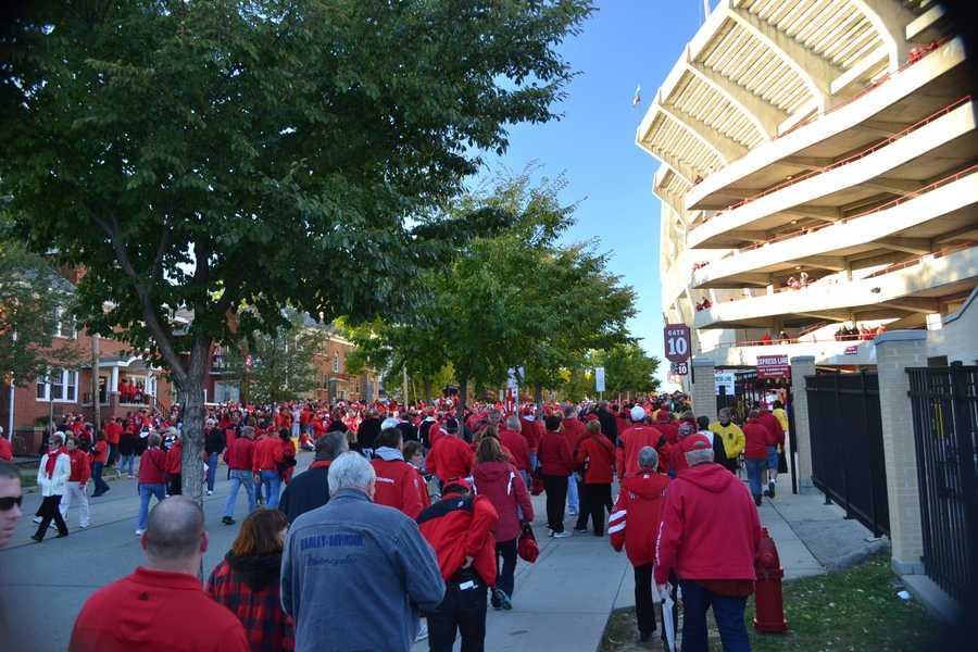 Outside Ft. Randall Stadium in Madison.