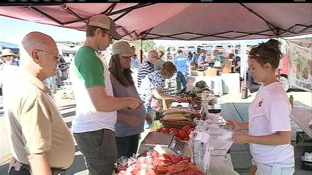 Producers at the local farmers market feel the pinch of the extreme heat and dry weather.