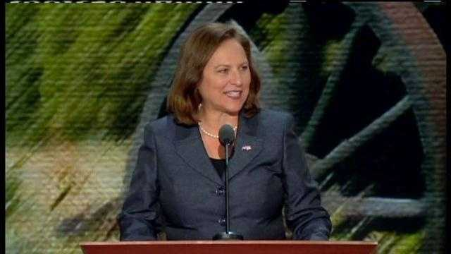U.S. Senate candidate Deb Fischer addressed the delegates at the Republican National Convention in Tampa.