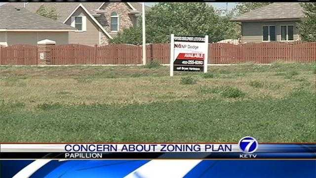 A plan in Papillion to turn empty space into new businesses and homes could soon come to fruition, but the people who live nearby aren't happy about it.