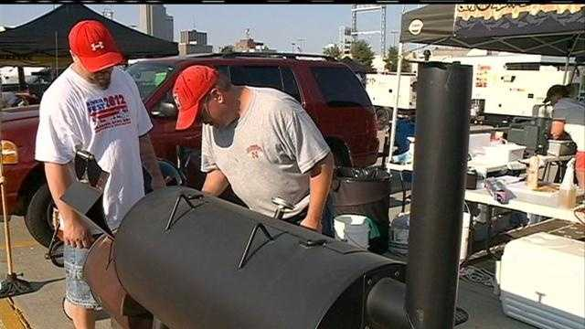 A barbeque contest heats up long before the gates of SeptemberFest open.