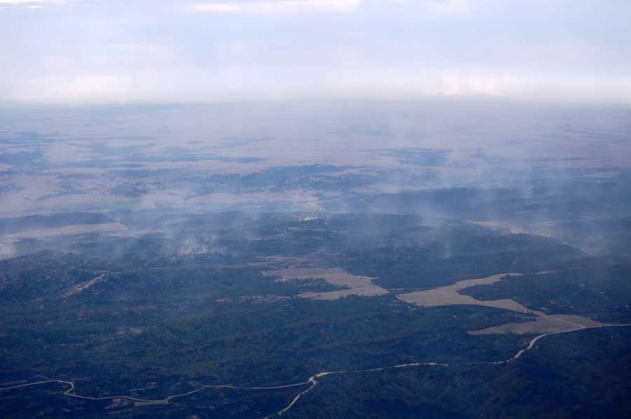 Aerial view of Rushville fire