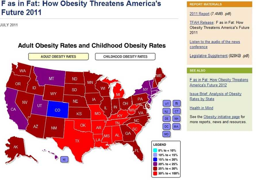 "To read the full report, ""F as in Fat: How Obesity Threatens America's Future 2011,"" click here."