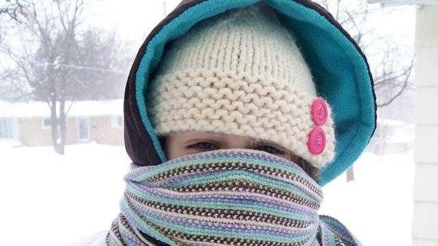Weather cold snow girl scarf