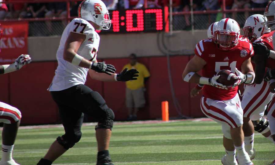 Will Compton recovered a fumble in the first half.