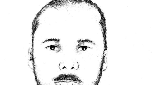 A sketch of the man found burned in a field near Ashland on Monday, Sept. 24, 2012.