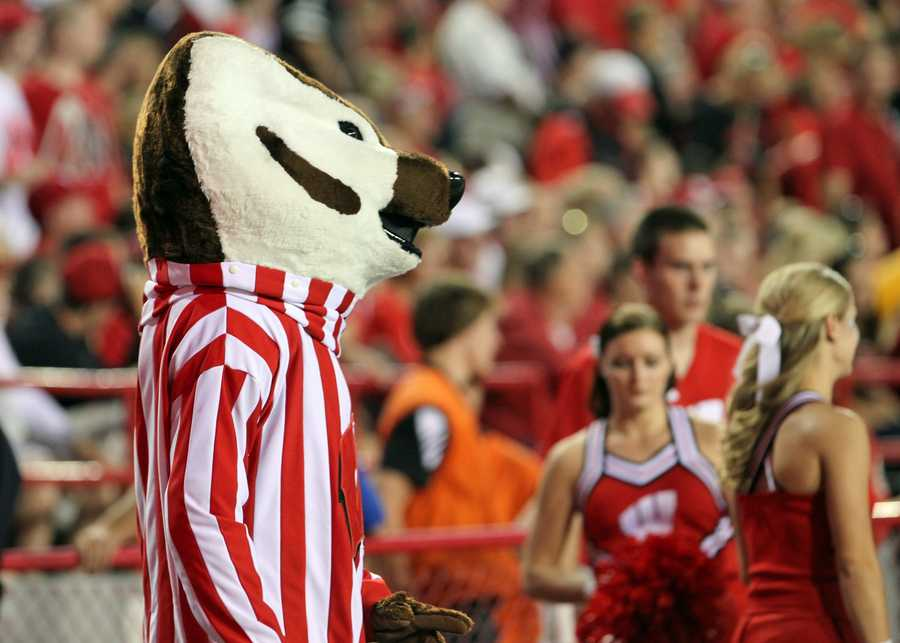 Of course, Bucky Badger was in the house for the game.