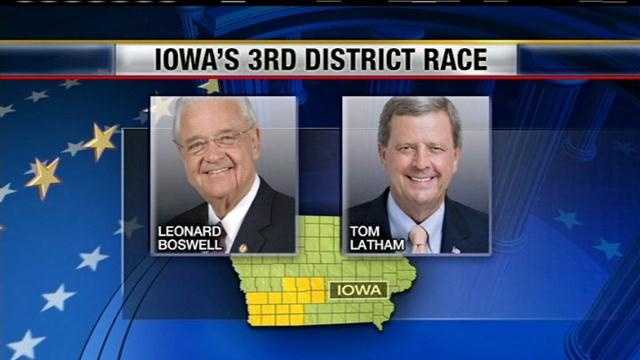 Two Iowa congressmen square off as they fight for votes in Council Bluffs.