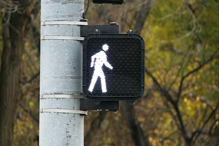 Now, pedestrians can walk across the street safely.