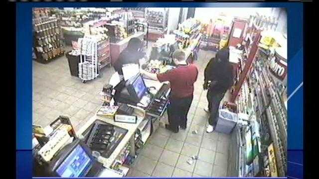 Robbers caught on tape