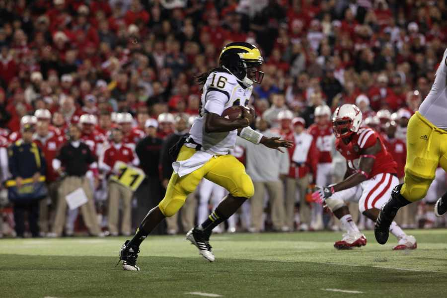 Michigan quarterback Dennard Robinson accounted for 70 percent of the Wolverine's offense coming into the game.