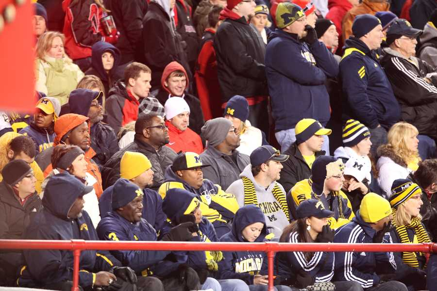 The Michigan fans who made the trip to Lincoln didn't have much to cheer about.
