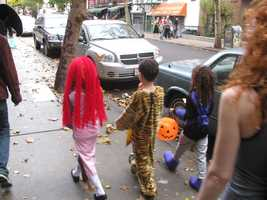 Make sure trick-or-treaters walk, not run from house to house.