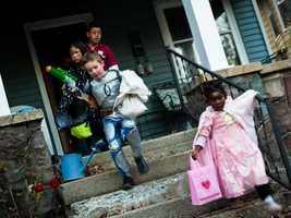 Make sure children know steps can be a tripping hazard.