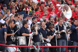 A small contingent from the Penn State band made it to the game.