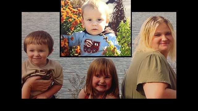 Left to right: Wyatt, Madison, Tyra Pierson, Top: Xavier