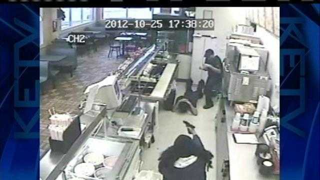 Omaha police need help catching the gunman who robbed the Subway at 108th and M streets on Oct. 25.