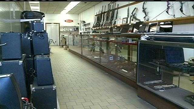 Two men rob Brown's Loan stealing 10 guns.
