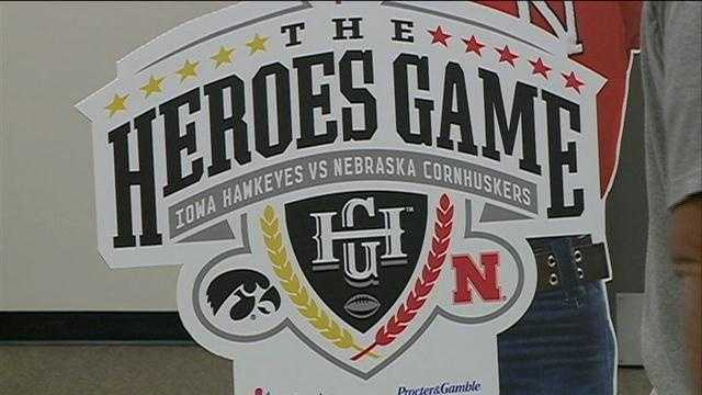 A trio of heroes will be honored during halftime at the Nebraska-Iowa game on Friday.