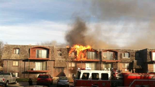 An apartment in Lincoln caught fire Thursday.