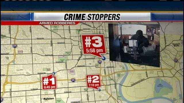 Police: Gunman tied to three robberies