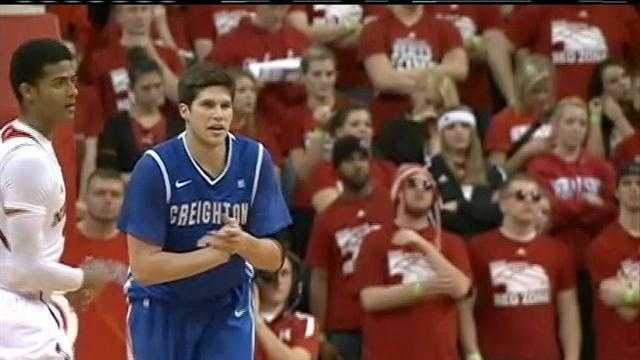 Doug McDermott scored 27 points, Gregory Echenique had 12 points and 12 rebounds, and No. 16 Creighton pulled away in the second half for a 64-42 victory over Nebraska.