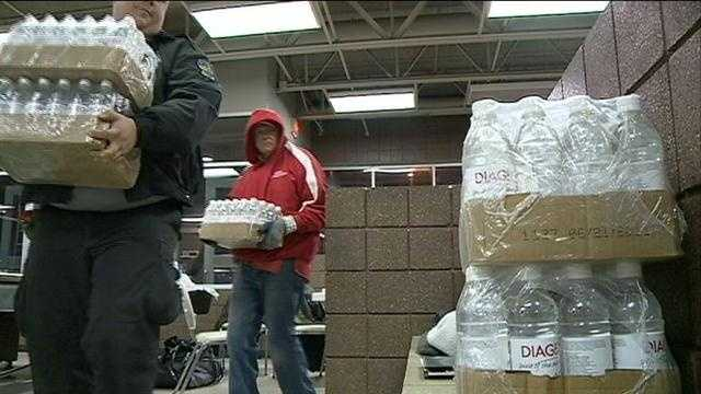 Mayor Jim Suttle's office said the city and the Red Cross are setting up a shelter in Omaha to help residents whose homes are still without power after the overnight snowstorm.