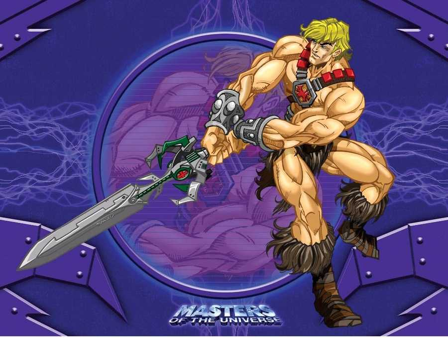 Adrian's childhood superhero is the powerful He-Man, master of the universe.