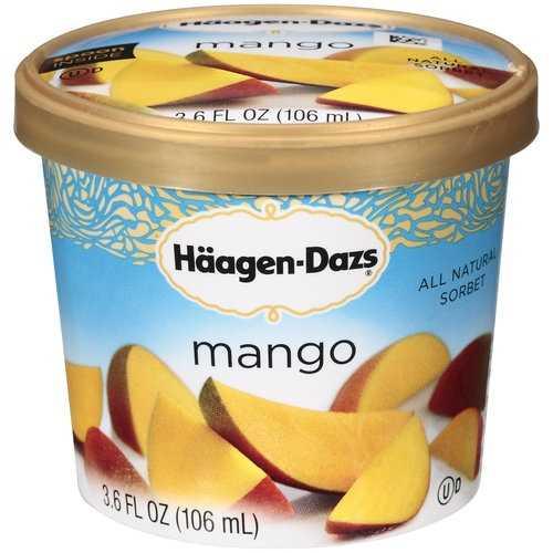 His favorite flavor of ice cream? Haagen Dazs Mango Sorbet.