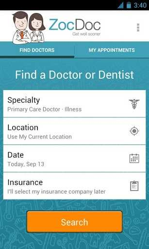ZocDoc is another free app that allows users to find nearby doctors who accept your health insurance plan.