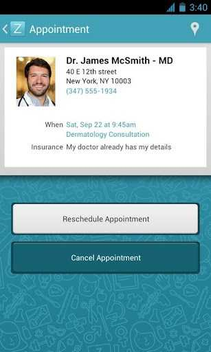 You can use the app to schedule or cancel appointments.
