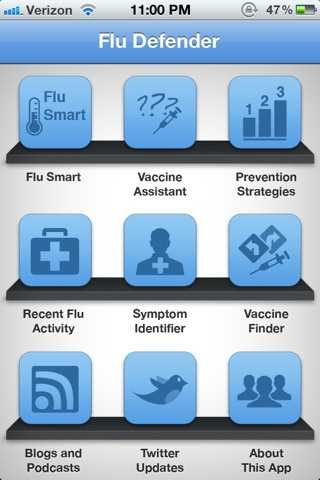 The Flu Defender app is an interactive solution that provides all the critical information you need to protect yourself against the flu.