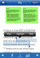 The app also provides users with the opportunity to copy important information to keep in their notes.