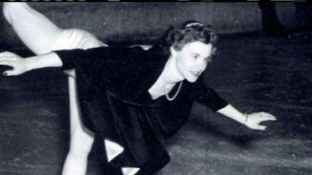 Woman celebrates 70 years on ice