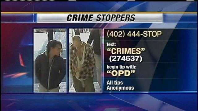 Crime Stoppers need the public's help in catching the man who stole a running car with the driver just a few feet away.
