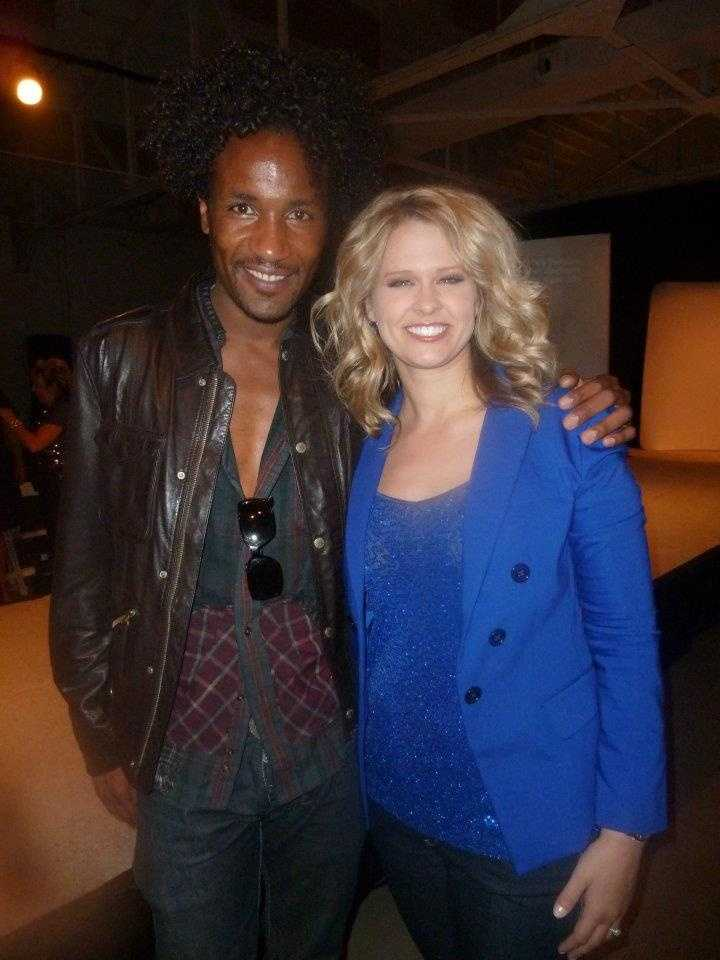 Brandi's favorite TV shows are Project Runway, Top Chef, So You Think You Can Dance and The Biggest Loser.  Brandi is pictured here with Project Runway start Jerell Scott.