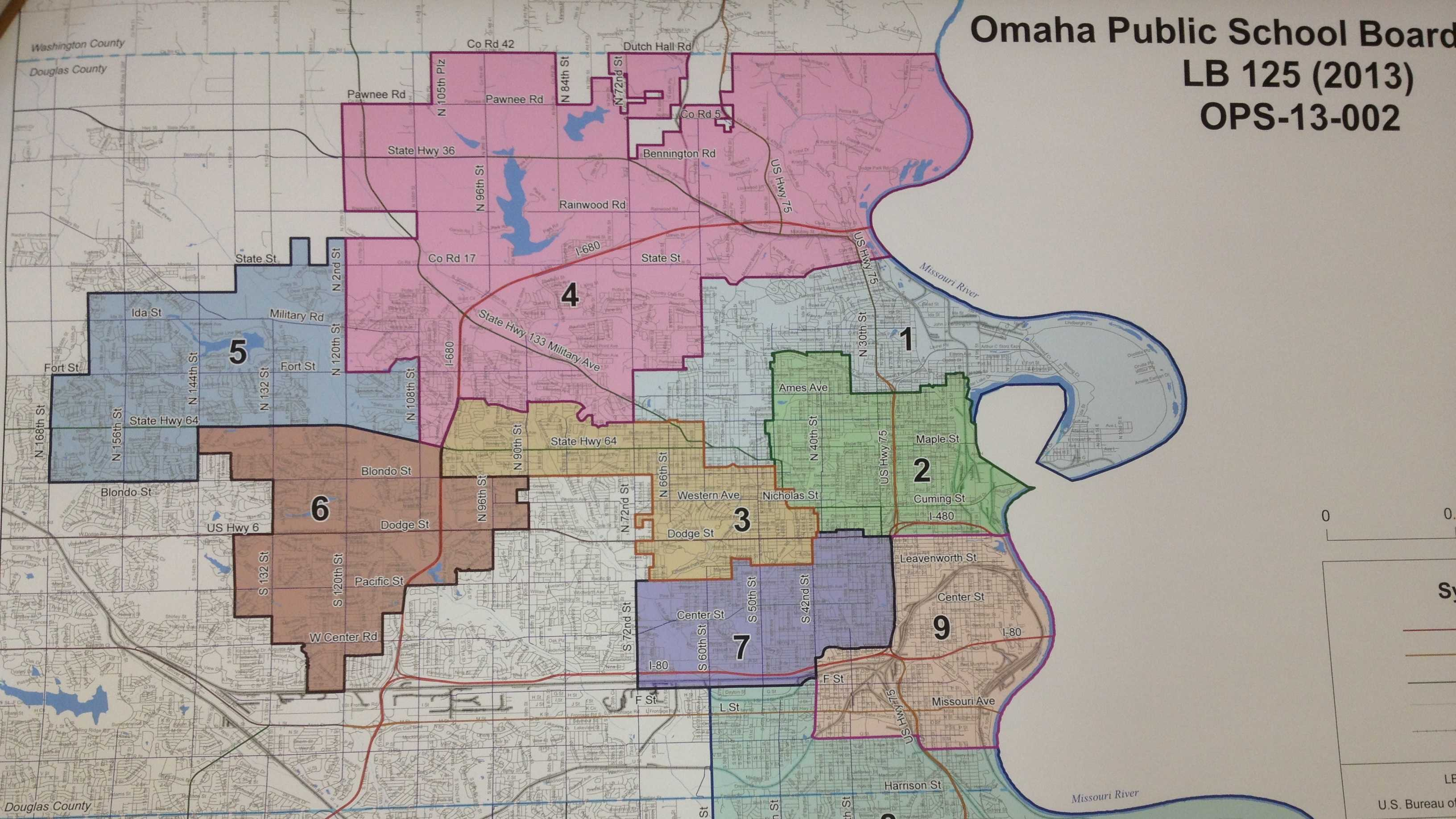 PHOTO: OPS board map