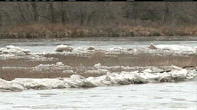 Rescuers in two counties saved both a teenager and a dog Sunday afternoon, both of whom were trapped by icy conditions on the Platte River.