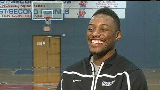 Creighton University basketball player Josh Jones keeps his head held high as a heart condition forces him to stay off the court.