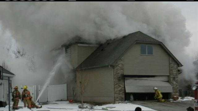 A house fire in eastern Council Bluffs killed a man and caused extensive damage to the two-story home.