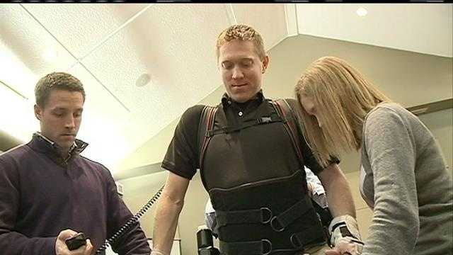 Paralyzed man walks for first time in 6 years