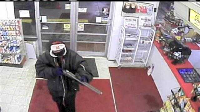 Omaha Crime Stoppers is asking for the public's help in identifying a gunman who robbed a convenience store on Feb. 24.