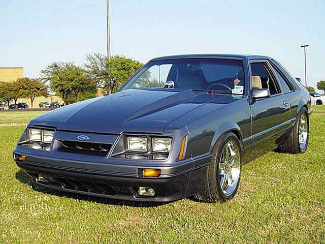 His first car was a 1984 Ford Mustang