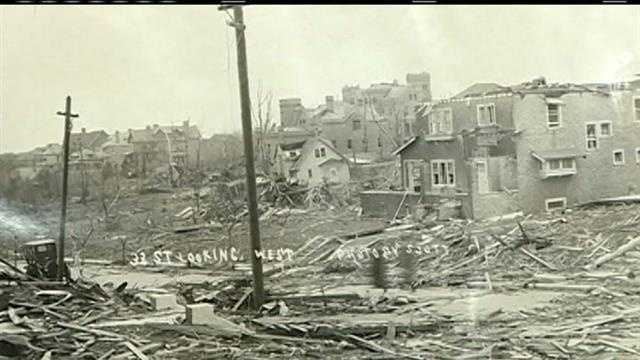 A century later, one Omaha woman shares memories of a storm that live on.